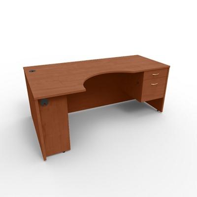 """Right Curved Corner Desk - 72""""W"""