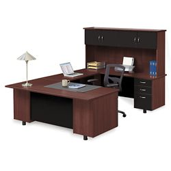 Ascend Right Bridge U-Desk with Hutch