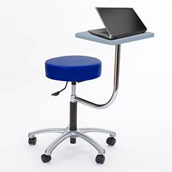 Vinyl Exam Stool with Tablet Arm