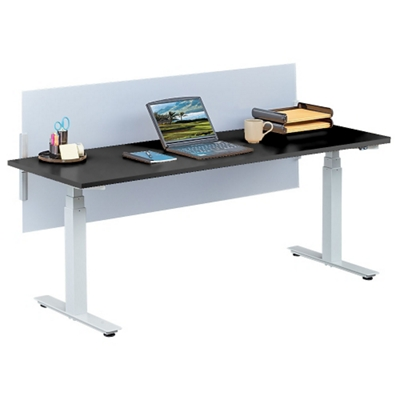 "Tabella Adjustable Height Table Desk with Privacy Screen - 72""W"