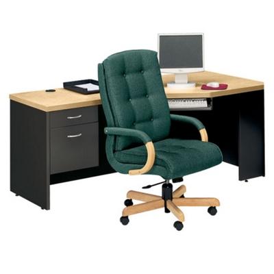 Left Pedestal Corner Desk