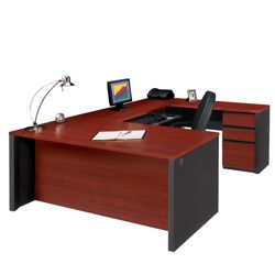 Contemporary Reversible U-Desk