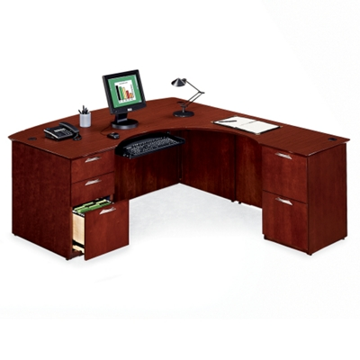 L-Desk with Right Lateral File Return