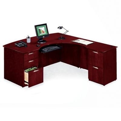 L-Desk with Right Multi-File Return