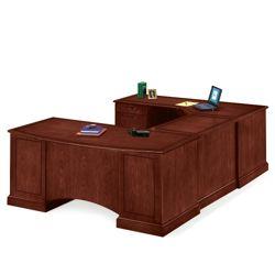 Executive U-Desk with Left Bridge
