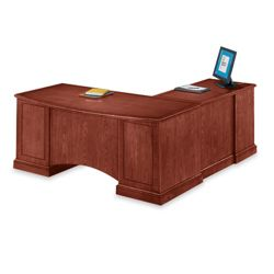 Executive Cherry L-Desk with Left Return
