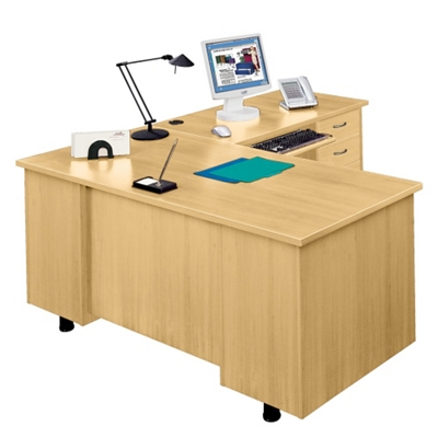 L-Desk with Right Return