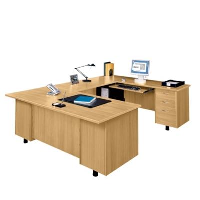 U-Desk with Right Bridge