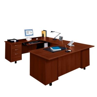 U-Desk with Left Bridge