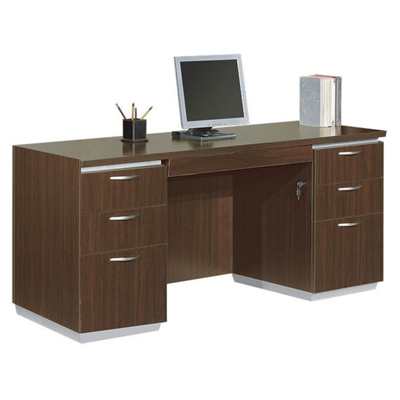 Kneespace Credenza with Flat Ends