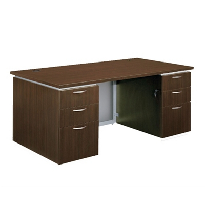 "72"" Wide Rectangular Executive Desk - Fully Assembled"