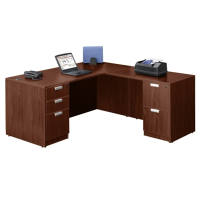 "Contemporary L-Desk - 66"" x 78"""