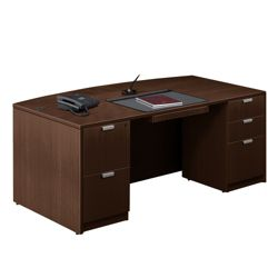 "Contemporary Bow Front Desk - 71"" x 42"""