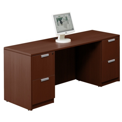 "Contemporary Double Pedestal Credenza - 71"" x 24"""