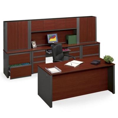 Executive  Desk & Credenza Wall