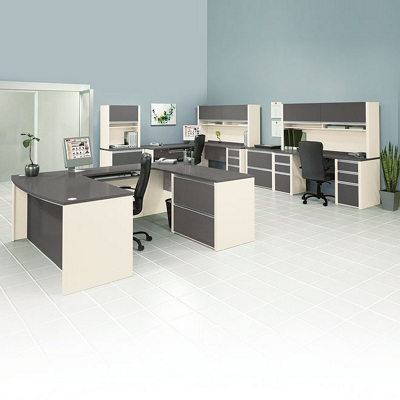 Three Person Work Station Executive Set