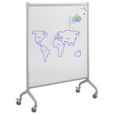"Rumba Mobile Magnetic Whiteboard - 42""W x 54""H"