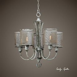 Five Light Vintage Chandelier