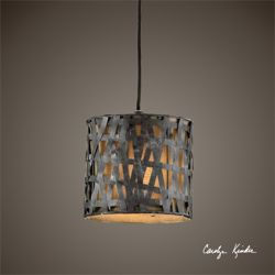 Metal Mini Drum Pendant Light