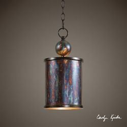 One Light Metallic Mini Pendant