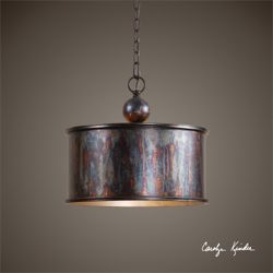 One Light Metallic Pendant
