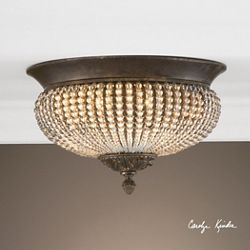 Clear Beaded Flush Mount