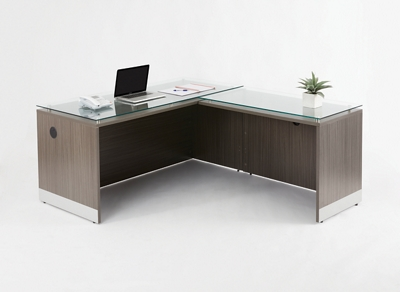 "Esquire L-Desk with Reversible Return - 66""W"