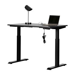Adjustable Height Standing Desk with Power Bar