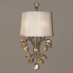 Golden Crystal Wall Light