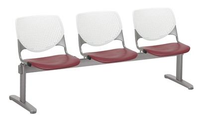 Three Seat Polypropylene Beam Seating