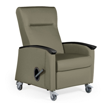 Shown With Gray Lever Comes In Black Harmony Mobile Medical Recliner