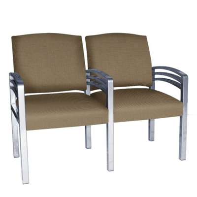 Trados Metal Frame Two Ganged Guest Chairs