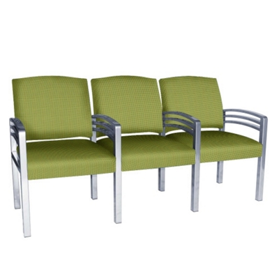 Trados Metal Frame Three Ganged Guest Chairs