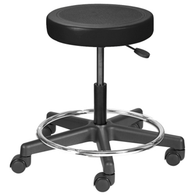 Height Adjustable Doctors Stool with Foot Ring