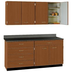 """Five Drawer, Six Door Wall and Base Cabinet Set - 60""""W"""