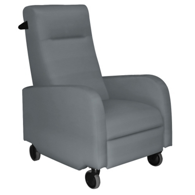 Haley Patient Recliner with Black Finish Push Bar in Vinyl