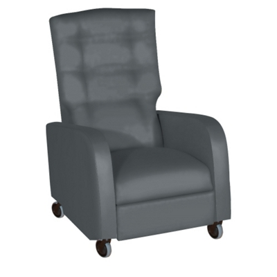 Haley Pillow Back Vinyl Recliner with Central Braking Casters