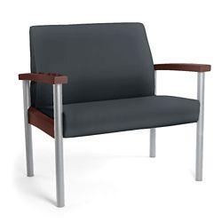 Metal Legged Vinyl Bariatric Guest Chair