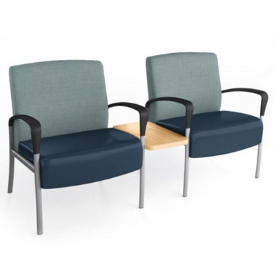 Aloe Two-Seater with Center Table