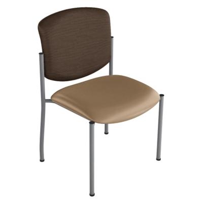 Armless Heavy-Duty Vinyl Stack Chair
