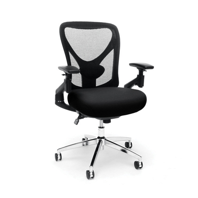 24hr Big & Tall Mesh Back Chair with Vinyl Seat