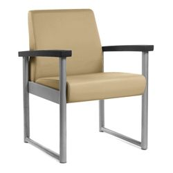 Behavioral Health Heavy-Duty Vinyl Guest Chair with Weighted Seat Pan
