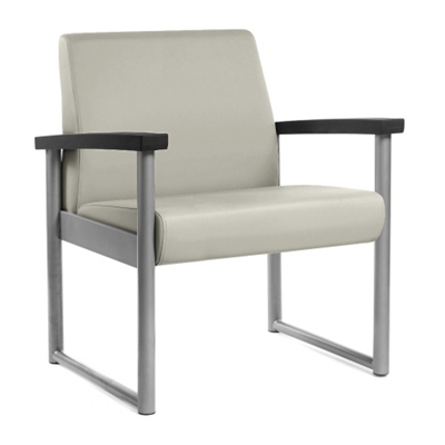 Behavioral Health Vinyl Bariatric Guest Chair with Weighted Seat Pan