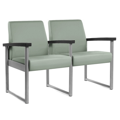 Behavioral Health Heavy-Duty Vinyl Two-Seater with Weighted Seat Pan