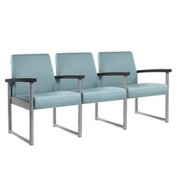 Behavioral Health Heavy-Duty Vinyl Three-Seater with Weighted Seat Pan