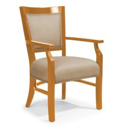 Flexsteel Notched Arm Dining Chair