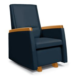 Flexsteel Glider Chair with Wood Arm Caps