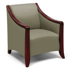 Flexsteel Lounge Chair with Wood Frame