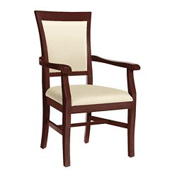 Curved Arm Dining Chair