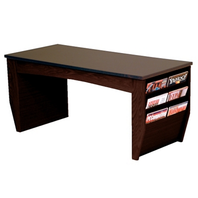 "Coffee Table with Magazine Rack - 46.5""W"